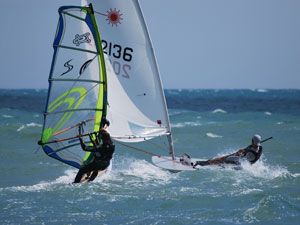 Wind surf a Ostia